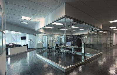 KWI Glass surrounded center office
