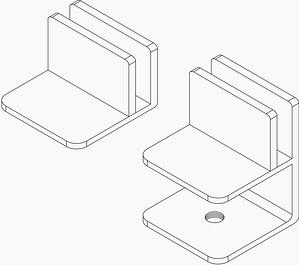 Dillmeier proprietary clamps for glass dividers