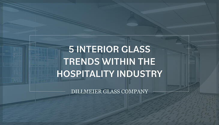 Ghosted image of glass office wall and text - 5 Interior Glass Trends Within the Hospitality Industry