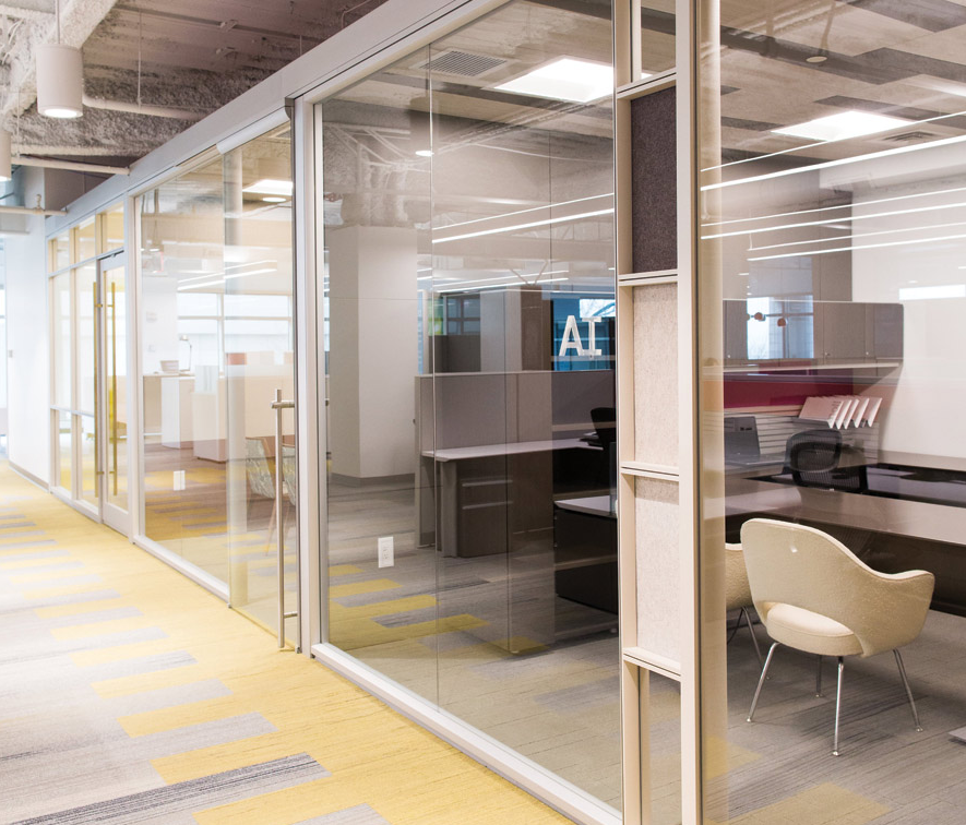 Glass office wall Sliding Modular Glass Office Walls Photo Credit Dillmeier Glass Safest2015info Openstyle Office Environments Encouraging Collaboration