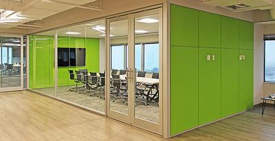 Chicago Tech Company with glass office walls