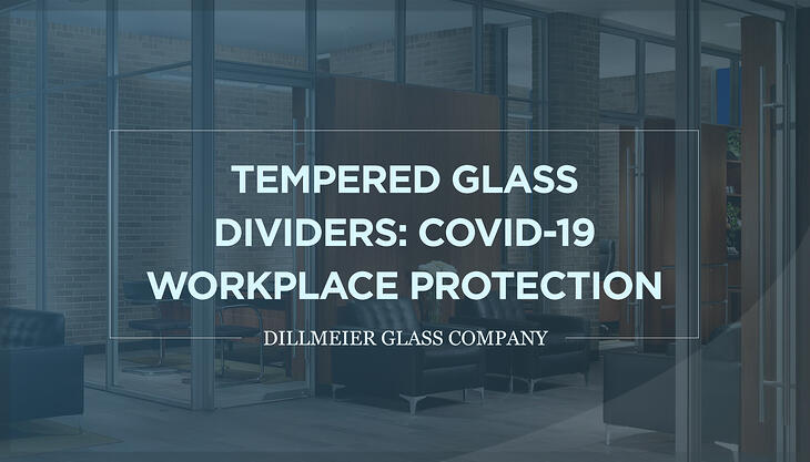 Tempered Glass Dividers: COVID-19 Workplace Protection - Text Graphic