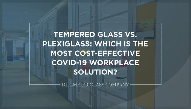 Tempered Glass vs. Plexiglass: Which Is the Most Cost-Effective COVID-19 Workplace Solution? - Text Graphic