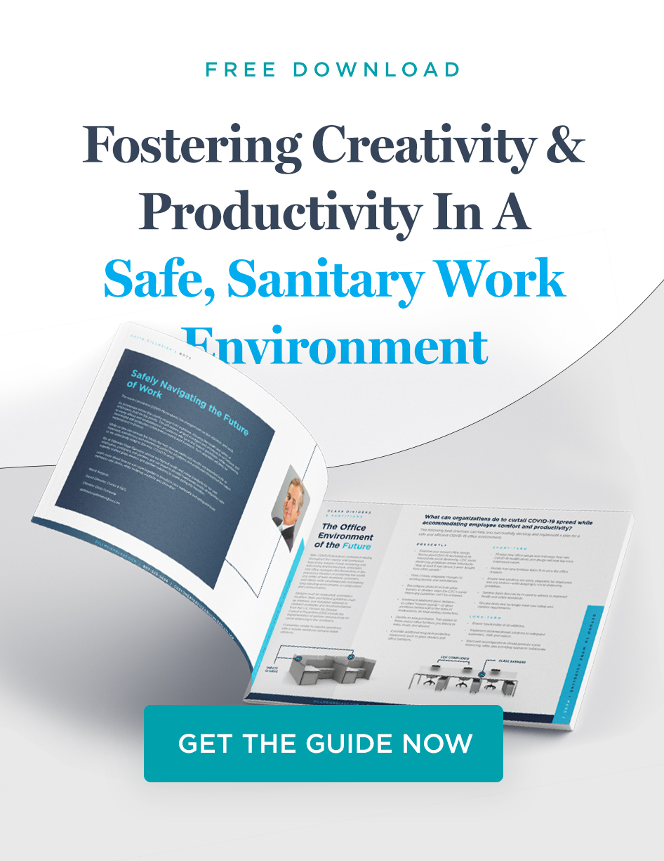 Fostering Creativity and Productivity in a Safe, Sanitary Work Environment PDF Mockup CTA