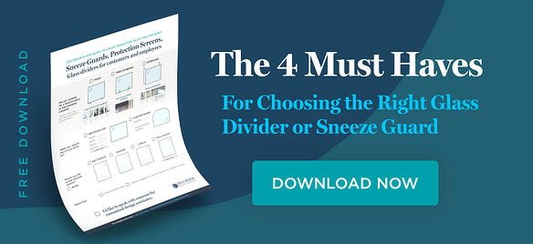 PDF Download Image for The 4 Must Haves for choosing the right glass divider or sneeze guard PDF