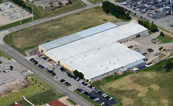 Dillmeier Glass Company overhead view of warehouse