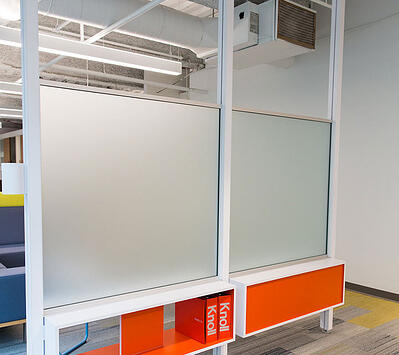 Frosted Glass as Office Divider