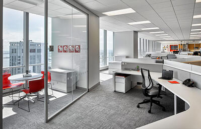 Scott Spector modern office with glass walls