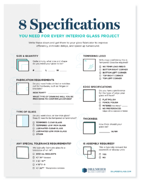 PDF Cover - 8 Specifications you need for every interior glass project