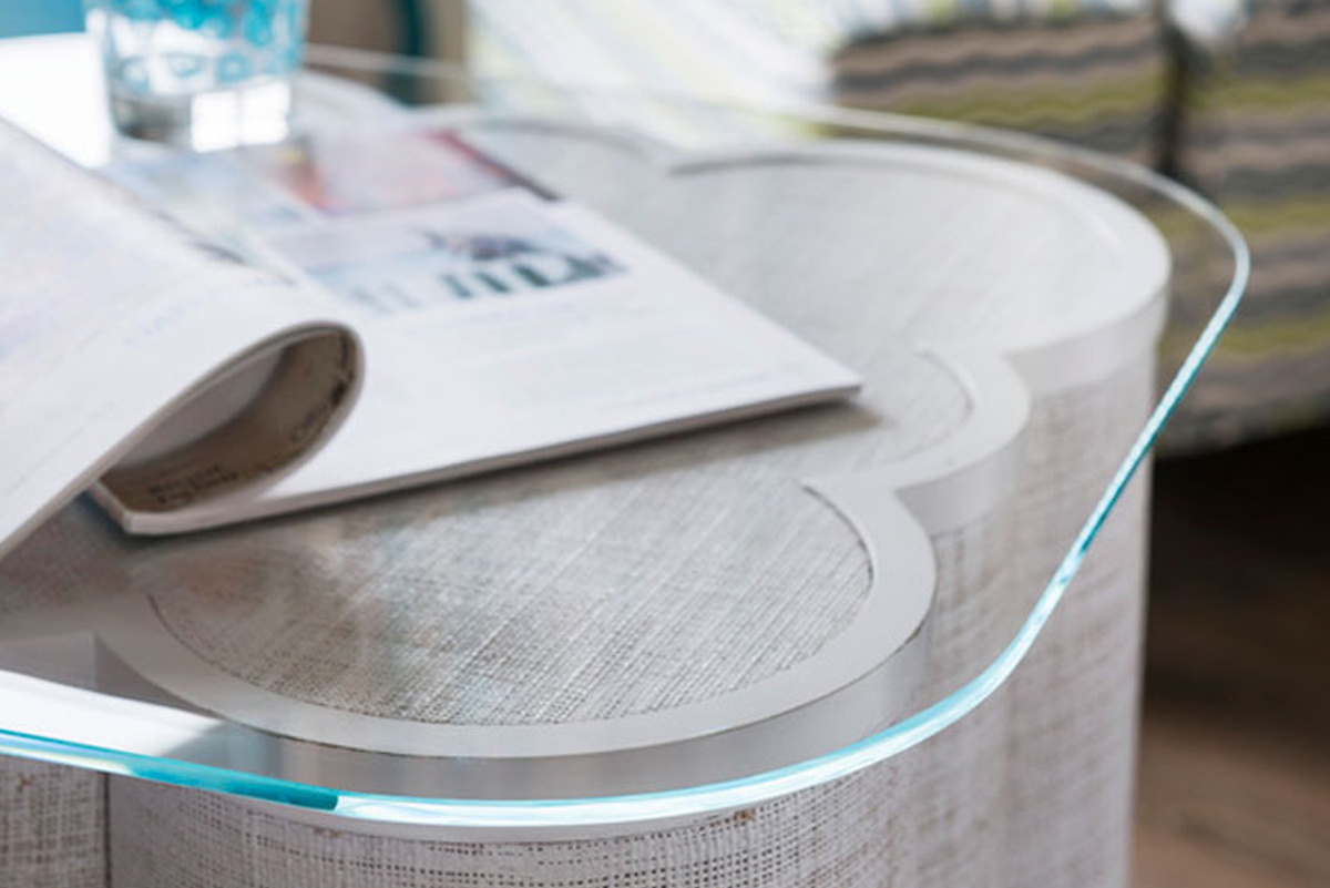 perfectly polish glass edges as coffee table top
