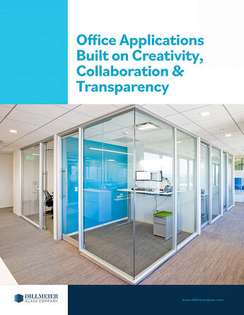 Office Applications Built on Creativity, Collaboration & Transparency text on dillmeier glass ebook cover
