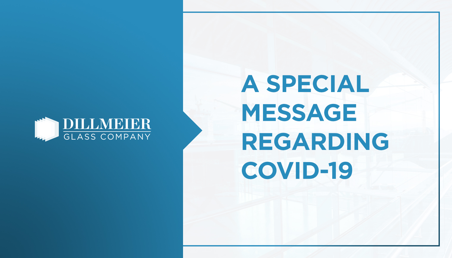 A Special Message Regarding COVID-19